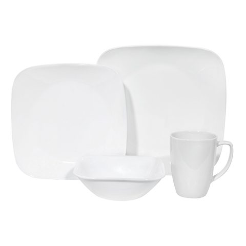 Pure White 16 Piece Dinner Set