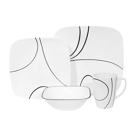 Simple Lines 16 Piece Dinner Set