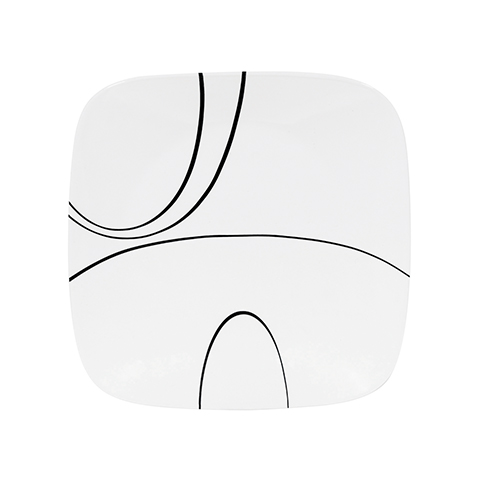 Corelle Studio Square Dinner Plate - Simple Lines