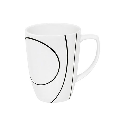 Simple Lines Porcelain Mug