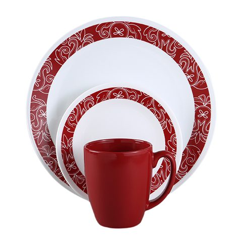 Bandhani 16 Piece Dinner Set
