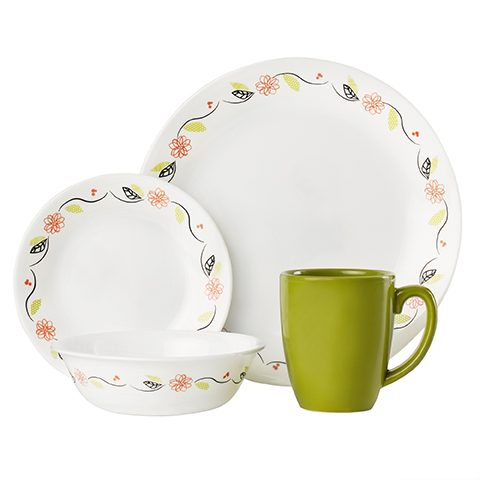 Tangerine Garden 16 Piece Dinner Set