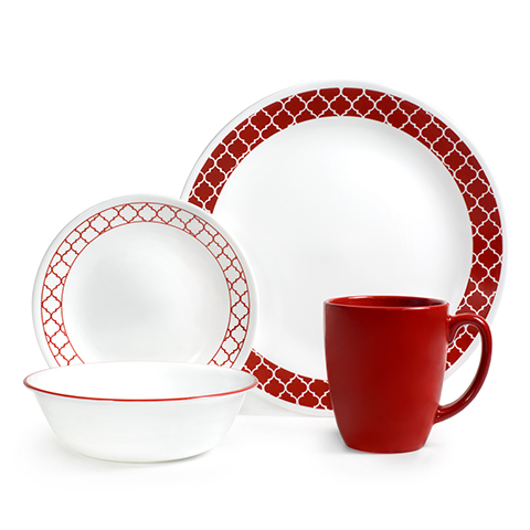 Crimson Trellis 16 Piece Dinner Set