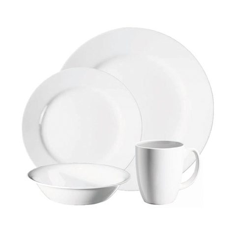 Dazzling White 16 Piece Dinner Set